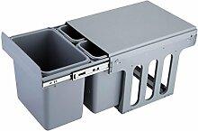 Drei Fässer Pull-Typ Schrank Kategorie unsichtbare Mülleimer 15L + 8L * 2