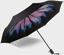 Drei Fold Vinyl Sunny Umbrella Blumen Regenschirme Sonnenschutz Sonnenschirm ( Farbe : #2 )