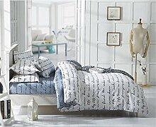 Drei Sätze von Bettwäsche Beddingleer Heimtextilien einfache cremefarben Englische Buchstaben Kissenbezüge Bettbezüge Dreiteiliger Anzug , A , 135x200cm