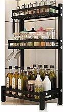 Drei Stockwerke Küchenregal Regal Küchenablage