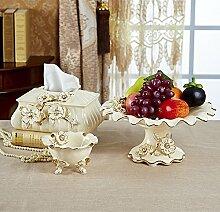 DreiStückevonWohnzimmer(TissueBox,Obstteller+Aschenbecher),chinesischeRetro,Keramik,HeimtextilienProdukte