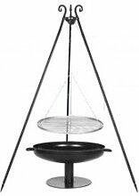 Dreibein Grill VIKING Höhe 180cm + Grillrost aus