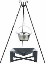 Dreibein Grill VIKING Höhe 180cm + Topf 10 Liter