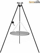 Dreibeingrill Höhe 192cm mit Kurbel und Stahlrost