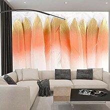 Dreidimensionale Wandfarbe Feder TV