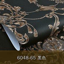Dreidimensionales Relief 3D continental Tapete Vlies Tapete Schlafzimmer Wohnzimmer TV-Wand Streifen,Schwarz