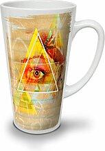 Dreieck Auge Star Mode Gestalten Glühen WeißTee KaffeKeramik Kaffeebecher 17   Wellcoda