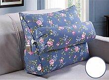 Dreieck Bedside Rückenlehne Kissen Büro Lendenwirbelsäule Rücken Pille Bett Kissen Kissen Kissen Kissen ( Farbe : A5 , größe : 45*50cm )
