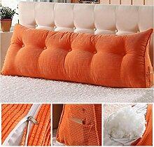 Dreieck Bett Kissen ( Farbe : Orange , größe : 120*25*50cm )