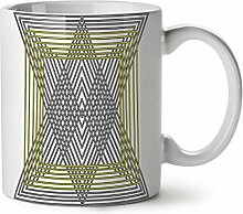 Dreieck Gestalten Weiß Tee Kaffee Keramisch Becher 11 oz   Wellcoda