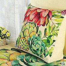 Dreieck Kissen Kissen Büro Lendenwirbel Rücken Kissen Sofa Kissen mit Core Rückenlehne Nachttisch Kissen ( Farbe : A8 , größe : 45cm*40cm*18cm )