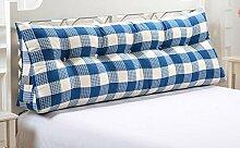 Dreieck Kissen Kissen Double Bedside Soft Pack Bett Große Hebel Bett Rückenlehne abnehmbar ( Farbe : A2 , größe : 60 )