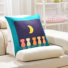 Dreieck-Kissen-Taillen-Bett-Kopf-Kissen-Kissen-Bett Taillen-Kissen-Büro-Taillen-Auflage-Sofa-großes Kissen ( Farbe : 3# , größe : 20*50*60cm )