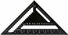 Dreieck Lehre Aluminiumlegierungs Quadrat Machthaber Hohe Präzisions Messwerkzeug für Ingenieur Tischler Studenten Schule