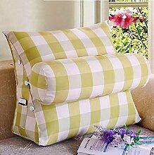 Dreieck zurück Kissen mit einem großen Kissen zur Anpassung der Höhe der abnehmbaren Corn Kernels Sofa Bett Kissen Taille Kissen ( Farbe : A3 , größe : 45*40*22cm )