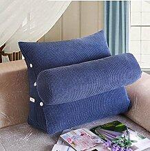 Dreieck zurück Kissen mit einem großen Kissen zur Anpassung der Höhe der abnehmbaren Corn Kernels Sofa Bett Kissen Taille Kissen ( Farbe : A4 , größe : 60*50*25cm )