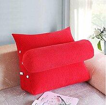 Dreieck zurück Kissen mit einem großen Kissen zur Anpassung der Höhe der abnehmbaren Corn Kernels Sofa Bett Kissen Taille Kissen ( Farbe : B5 , größe : 45*40*22cm )