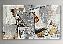 Dreiecke Abstrakt Acryl Gemälde auf Leinwand von