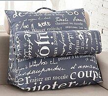 Dreieckiges Bett-Kissen-Segeltuch-großes Kissen für das Lehnen auf der Anpassung ( Farbe : 3# , größe : 47*43*20cm )