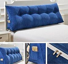 Dreieckkissen Abnehmbare dreieckige Bett mit großen Kissen Bedside Soft Bag Sofa mit großer Rückenlehne Taillenkissen ( Farbe : A4 , größe : 135cm )