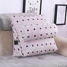 Dreieckkissen European - Style Jacquard Large Back Kissen auf dem Bett Dreieck Kissen Bedside Soft Kissen Soft Pillow Taillenkissen ( Farbe : B5 , größe : 60X50X20cm )