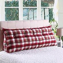 Dreieckkissen Kissen Bedside Rückenlehne Dreieck Bett Kissen Sofa Lange Kissen Große Kissen Bett Kissen Mit Core Abnehmbare waschbar Taillenkissen ( Farbe : B1 , größe : 180*22*50cm )