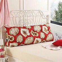 Dreieckkissen Kissen Bedside Rückenlehne Dreieck Bett Kissen Sofa Lange Kissen Große Kissen Bett Kissen Mit Core Abnehmbare waschbar Taillenkissen ( Farbe : B3 , größe : 180*22*50cm )