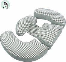 dreifarbig Ergonomisches Design Kissen für Schwangere Frauen Sleeping Kopfpolster sicheren U Kissen-Schlaf Kopfkissen Unterstützung Bauch Taille Kissen h