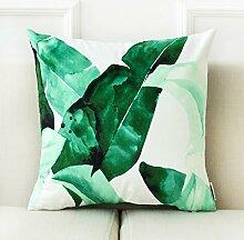 dreifarbig im europäischen Stil Sofa Kissen Aquarellzeichnung Flower Pattern Auto Kissen Bett Kissen 43* 43cm, C, Cushion (pp cotton)