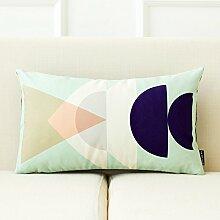 dreifarbig New Nordic Moderne Geometrie Einfache Sofa Kissen Bett Kissen abnehmbarer Bezug mit Gute PP Baumwolle Füllung Innen 43* 43cm, R, Cover