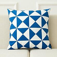 dreifarbig New Nordic Moderne Geometrie Einfache Sofa Kissen Bett Kissen abnehmbarer Bezug mit Gute PP Baumwolle Füllung Innen 43* 43cm, B, Cushion(down filling)