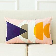 dreifarbig New Nordic Moderne Geometrie Einfache Sofa Kissen Bett Kissen abnehmbarer Bezug mit Gute PP Baumwolle Füllung Innen 43* 43cm, S, Cushion(down filling)