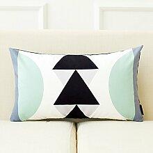 dreifarbig New Nordic Moderne Geometrie Einfache Sofa Kissen Bett Kissen abnehmbarer Bezug mit Gute PP Baumwolle Füllung Innen 43* 43cm, O, Cushion(down filling)