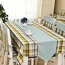dreifarbig Pastoral Stil wasserdicht Tischdecke Stuhl stabiler Couchtisch Cover Tischläufer, Polyester, F, 130*180cm