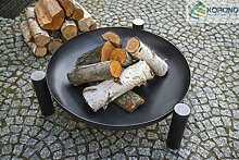 Dreifuß-Grill aus schwarzem Stahl, 180 cm inkl.