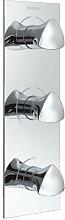 Dreigriff-Duscharmatur Unterputz Bright Dual mit 2