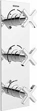 Dreigriff-Duscharmatur Unterputz Cascade Dual mit