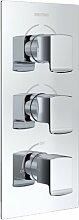 Dreigriff-Duscharmatur Unterputz Descent Dual mit