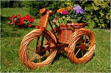 Dreirad aus Korbgeflecht , 55 cm, Korb-Dreirad,