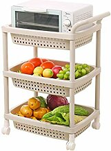 Dreischichtiges Küchenregal aus Kunststoff,
