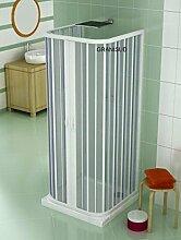 Dreiseitige PVC Duschkabine 90x90 mit zentraler