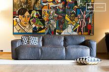 Dreisitzer-Sofa Atsullivan vintage
