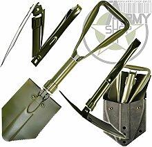 Dreiteiliger BW-Spaten mit PVC-Koppeltasche Spaten