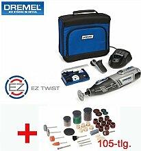 DREMEL 10,8V Lithium-Ionen Akku-Multitool 8200-1 Set - inklusive 35 DREMEL Zubehörteile, DREMEL Präzisionshandgriff, 105-tlg. SILVERLINE Zubehörset, Ladegerät und Tasche