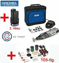 DREMEL 10,8V Lithium-Ionen Akku-Multitool 8200 Set - inklusive 2. Akku, 20 DREMEL Zubehörteile, 105-tlg. SILVERLINE Zubehörset, Ladegerät und Tasche, NEU: Jetzt mit 2,0 Ah Lithium-Ionen-Akkus!