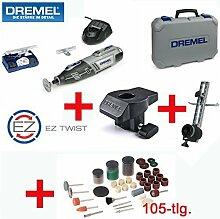 DREMEL 10,8V Lithium-Ionen Akku Multitool 8200 Set - inklusive 45 DREMEL Zubehörteile, DREMEL Modellierungstisch, DREMEL Kreis- und Parallelschneider, 105-tlg. SILVERLINE Zubehörset, Ladegerät und Koffer