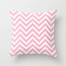 Dress rei Chevron Stripes Pink & White Cushion