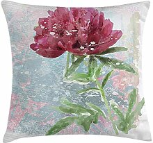 Dress rei Floral Throw Pillow Cushion Cover, Peony