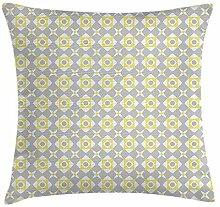 Dress rei Grey and Yellow Throw Pillow Cushion