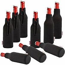 DRESS-YOUR-DRINK Neopren Flaschenkühler Getränkekühler Bierkühler (10er Sparpaket 0.3 Liter)